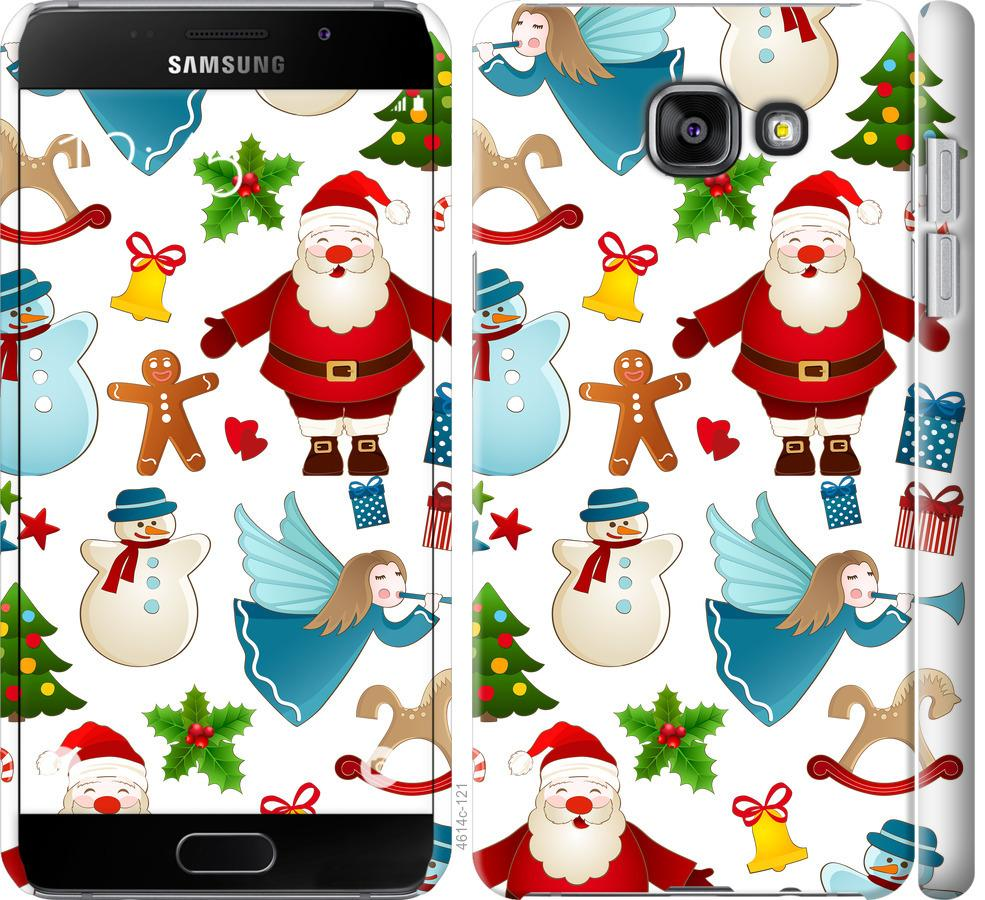 Чехол на Samsung Galaxy A7 (2016) A710F Новогодний 1