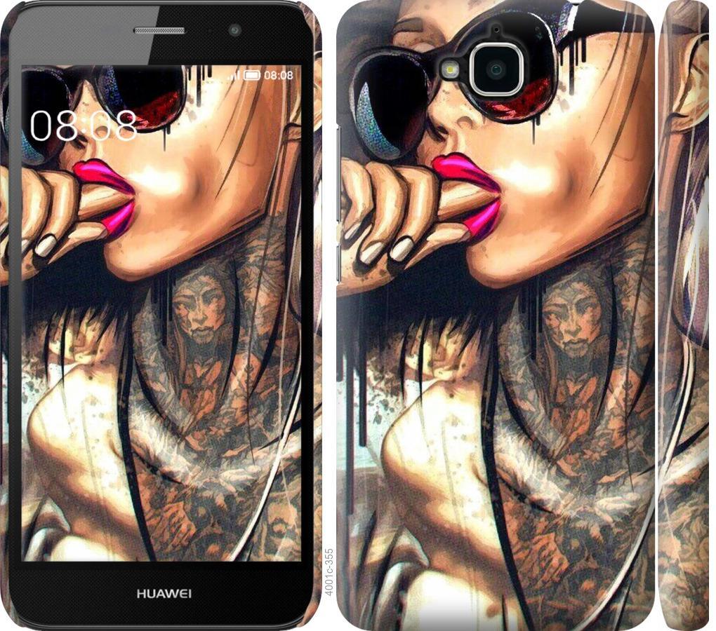 Чехол на Huawei Y6 Pro Девушка в тату