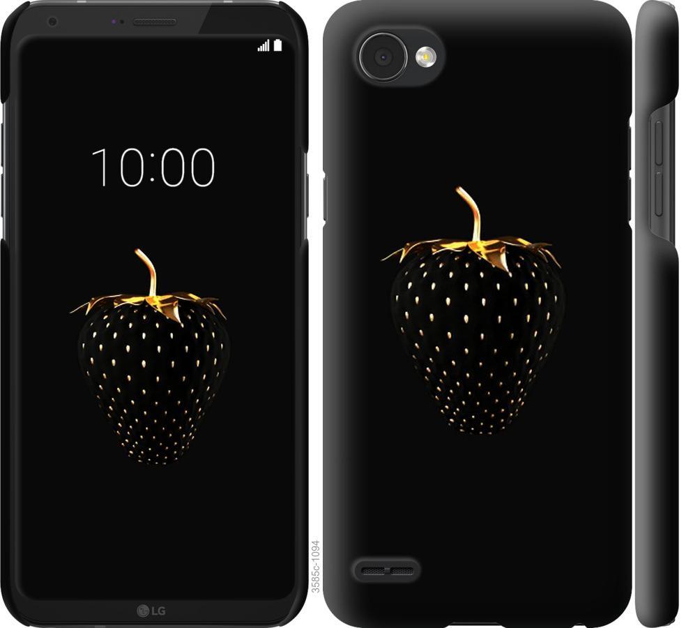 Чехол на LG Q6 Черная клубника
