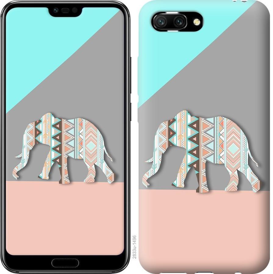 Чехол на Huawei Honor 10 Узорчатый слон