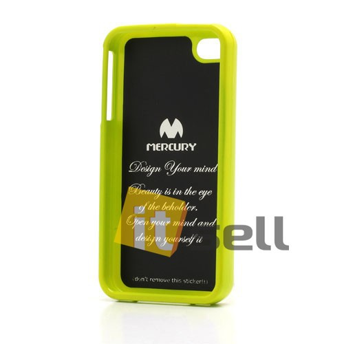 Фото TPU чехол Mercury Jelly Color series для Apple iPhone 4/4S Лайм в магазине itsell.ua