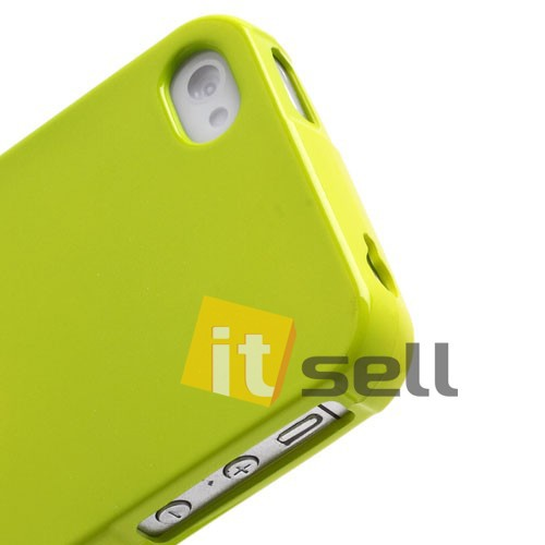 TPU чехол Mercury Jelly Color series для Apple iPhone 4/4S Лайм на itsell.ua