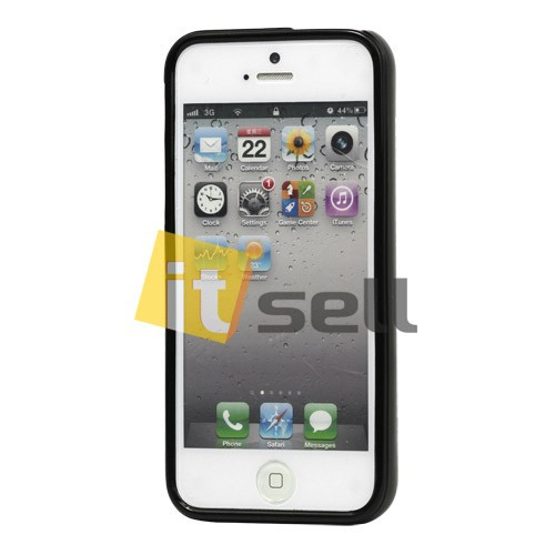 Фото TPU чехол Mercury Jelly Color series для Apple iPhone 5/5S/SE Черный на itsell.ua