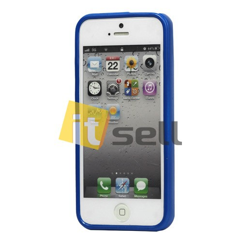 Фото TPU чехол Mercury Jelly Color series для Apple iPhone 5/5S/SE Синий на itsell.ua