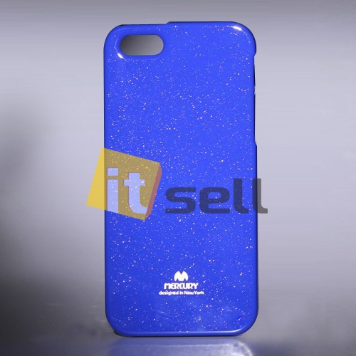 TPU чехол Mercury Jelly Color series для Apple iPhone 5/5S/SE Синий на itsell.ua