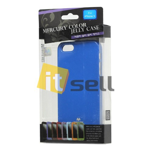 Купить TPU чехол Mercury Jelly Color series для Apple iPhone 5/5S/SE Синий на itsell.ua