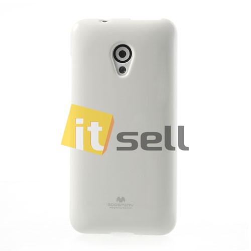 Фото TPU чехол Mercury Jelly Color series для HTC Desire 700 Белый на itsell.ua