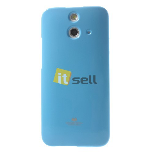 Фото TPU чехол Mercury Jelly Color series для HTC One / E8 Голубой на itsell.ua