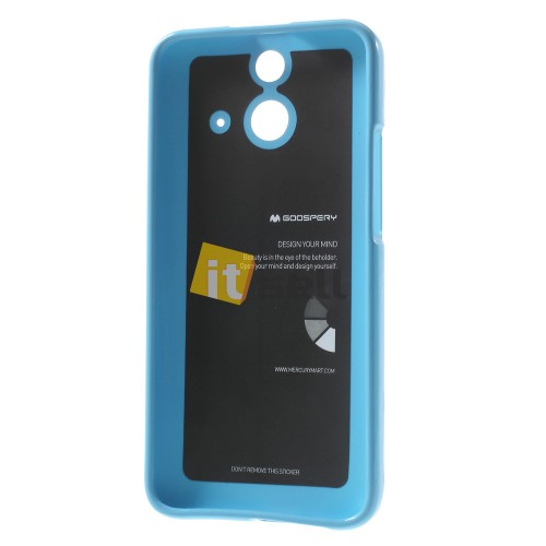 Купить TPU чехол Mercury Jelly Color series для HTC One / E8 Голубой на itsell.ua