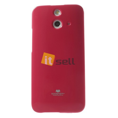 Фото TPU чехол Mercury Jelly Color series для HTC One / E8 Малиновый на itsell.ua