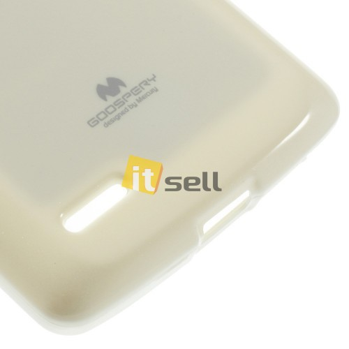 TPU чехол Mercury Jelly Color series для LG D380 L80 Dual Белый на itsell.ua