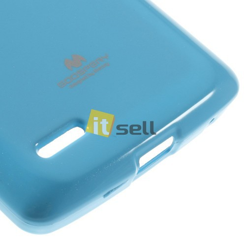 TPU чехол Mercury Jelly Color series для LG D380 L80 Dual Голубой на itsell.ua