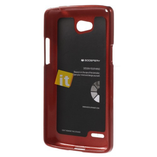 Фото TPU чехол Mercury Jelly Color series для LG D380 L80 Dual Красный на itsell.ua
