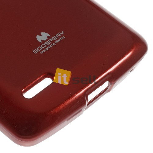 TPU чехол Mercury Jelly Color series для LG D380 L80 Dual Красный на itsell.ua