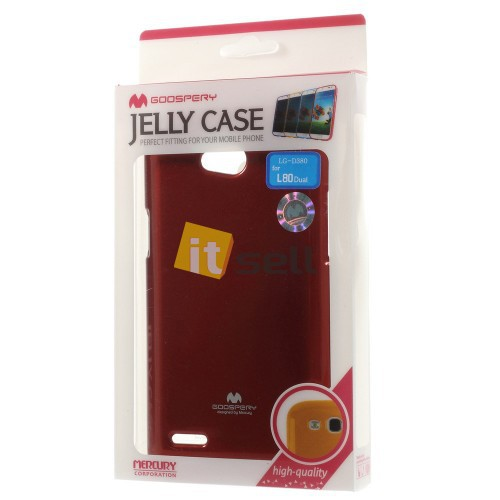 Купить TPU чехол Mercury Jelly Color series для LG D380 L80 Dual Красный на itsell.ua