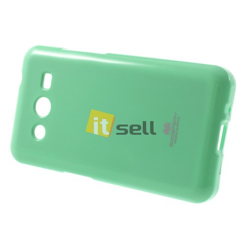 Фото TPU чехол Mercury Jelly Color series для Samsung G355 Galaxy Core 2 Бирюзовый на itsell.ua