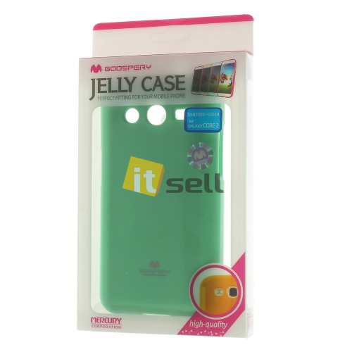 Купить TPU чехол Mercury Jelly Color series для Samsung G355 Galaxy Core 2 Бирюзовый на itsell.ua