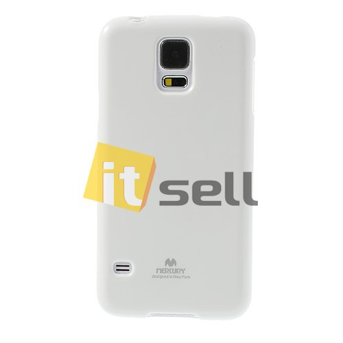 Фото TPU чехол Mercury Jelly Color series для Samsung G900 Galaxy S5  Белый на itsell.ua