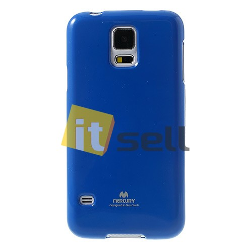 Фото TPU чехол Mercury Jelly Color series для Samsung G900 Galaxy S5  Синий на itsell.ua