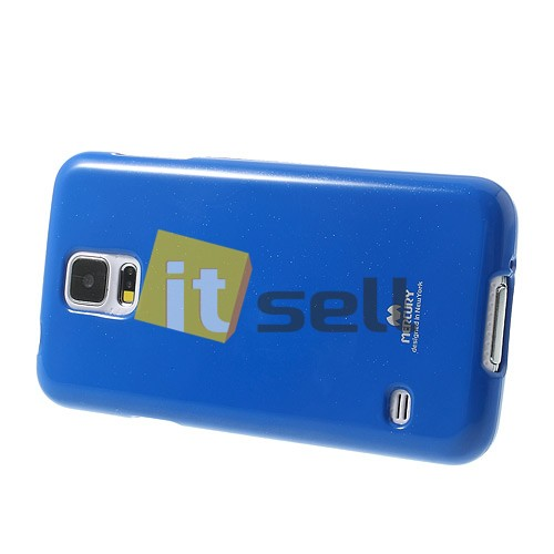 Фото TPU чехол Mercury Jelly Color series для Samsung G900 Galaxy S5  Синий в магазине itsell.ua