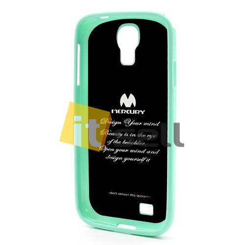 Фото TPU чехол Mercury Jelly Color series для Samsung i9500 Galaxy S4 Бирюзовый на itsell.ua