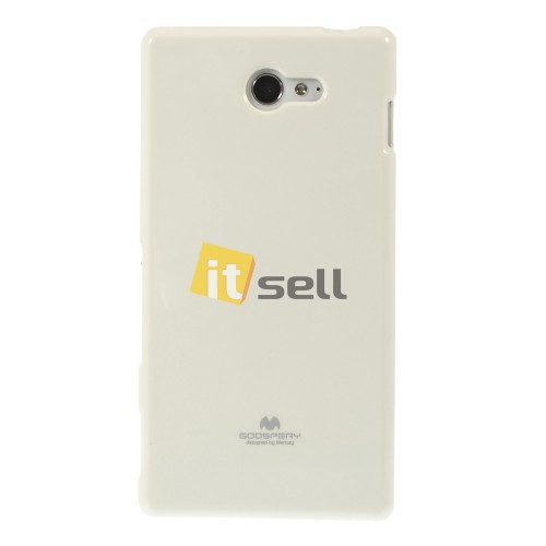 Фото TPU чехол Mercury Jelly Color series для Sony Xperia M2  Белый на itsell.ua