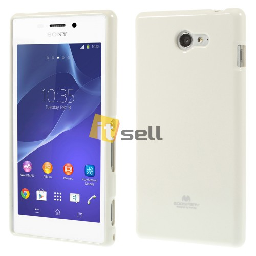Купить TPU чехол Mercury Jelly Color series для Sony Xperia M2  за 109 грн