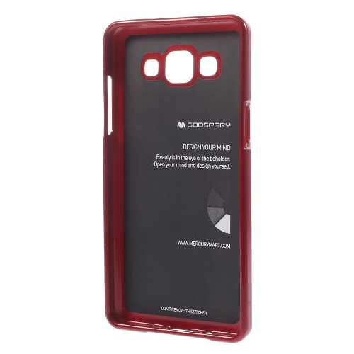 Фото TPU чехол Mercury Jelly Color series для Samsung A500H / A500F Galaxy A5 Красный на itsell.ua