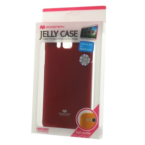 Купить TPU чехол Mercury Jelly Color series для Samsung G850F Galaxy Alpha Красный на itsell.ua