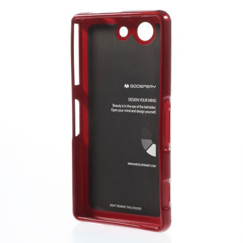 Фото TPU чехол Mercury Jelly Color series для Sony Xperia Z3 Compact Красный на itsell.ua