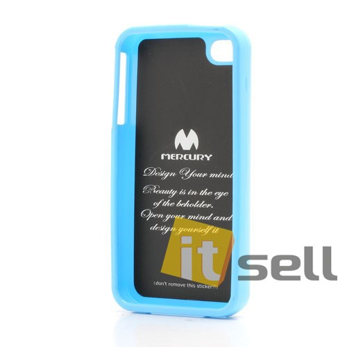 TPU чехол Mercury Jelly Color series для Apple iPhone 4/4S Голубой на itsell.ua
