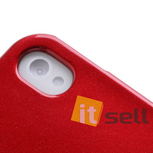 Фото TPU чехол Mercury Jelly Color series для Apple iPhone 4/4S Красный в магазине itsell.ua