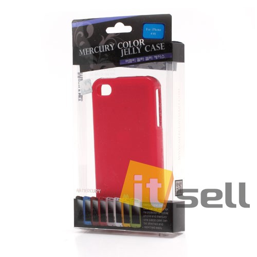 Заказать TPU чехол Mercury Jelly Color series для Apple iPhone 4/4S Малиновый на itsell.ua