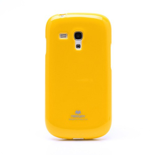 Фото TPU чехол Mercury Jelly Color series для Samsung i8190 Galaxy S3 mini Желтый на itsell.ua
