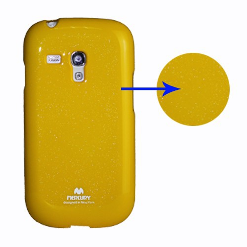 TPU чехол Mercury Jelly Color series для Samsung i8190 Galaxy S3 mini Желтый на itsell.ua