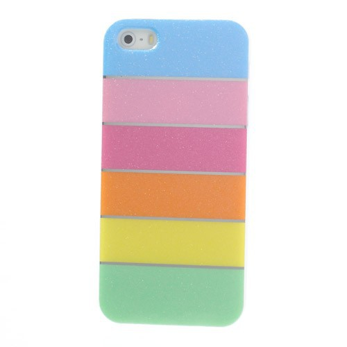 Фото TPU чехол Colorful Rainbow для Apple iPhone 5/5S/SE Голубой на itsell.ua