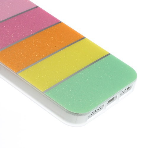 TPU чехол Colorful Rainbow для Apple iPhone 5/5S/SE Голубой на itsell.ua