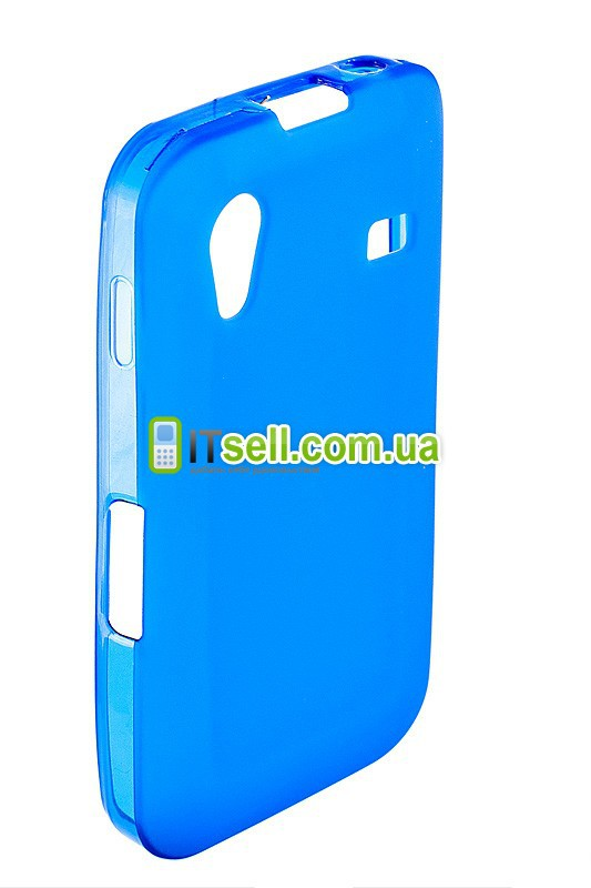 Фото TPU для Samsung s5830 Galaxy Ace Голубой (Soft-touch) на itsell.ua