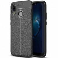 TPU чехол фактурный (с имитацией кожи) для Huawei Enjoy 9 Plus