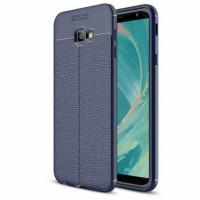 TPU чохол фактурний (з імітацією шкіри) для Samsung Galaxy J4+ (2018)