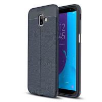 TPU чохол фактурний (з імітацією шкіри) для Samsung Galaxy J6+ (2018) (J610F)