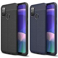 TPU чехол фактурный (с имитацией кожи) для Samsung Galaxy M21