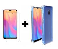 TPU чехол GETMAN Ease с усиленными углами для Xiaomi Redmi 8a + Защитное стекло Ultra 0.33mm для Xiaomi Redmi 8 / 8a