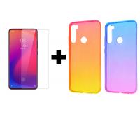 TPU чехол Gradient Color для Xiaomi Redmi Note 8 + Защитное стекло Ultra 0.33mm для Xiaomi Redmi Note 8