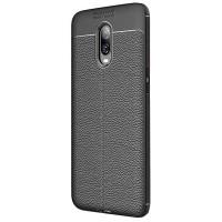 TPU чехол iPaky Litchi Series для OnePlus 6T