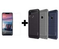 TPU чехол iPaky Slim Series для Huawei P Smart+ (nova 3i) + Защитное стекло Ultra 0.33mm для Huawei P Smart+ (nova 3i)