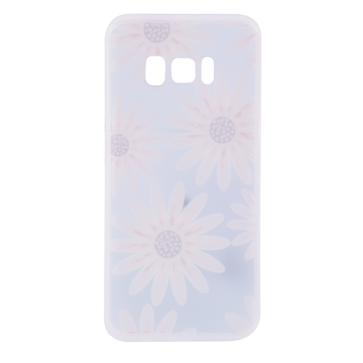 Фото TPU чехол матовый soft touch color для Samsung Galaxy S8 Plus (G955) Крупные Ромашки на itsell.ua