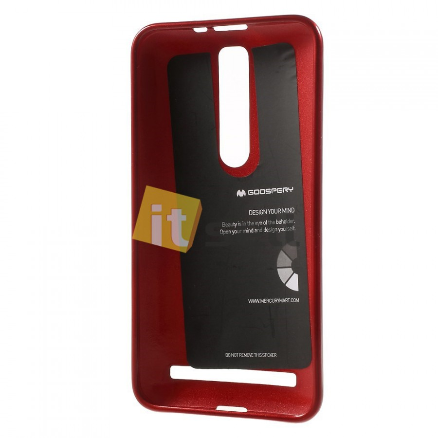 Фото TPU чехол Mercury Jelly Color series для Asus Zenfone 2 (ZE551ML/ZE550ML) Красный в магазине itsell.ua