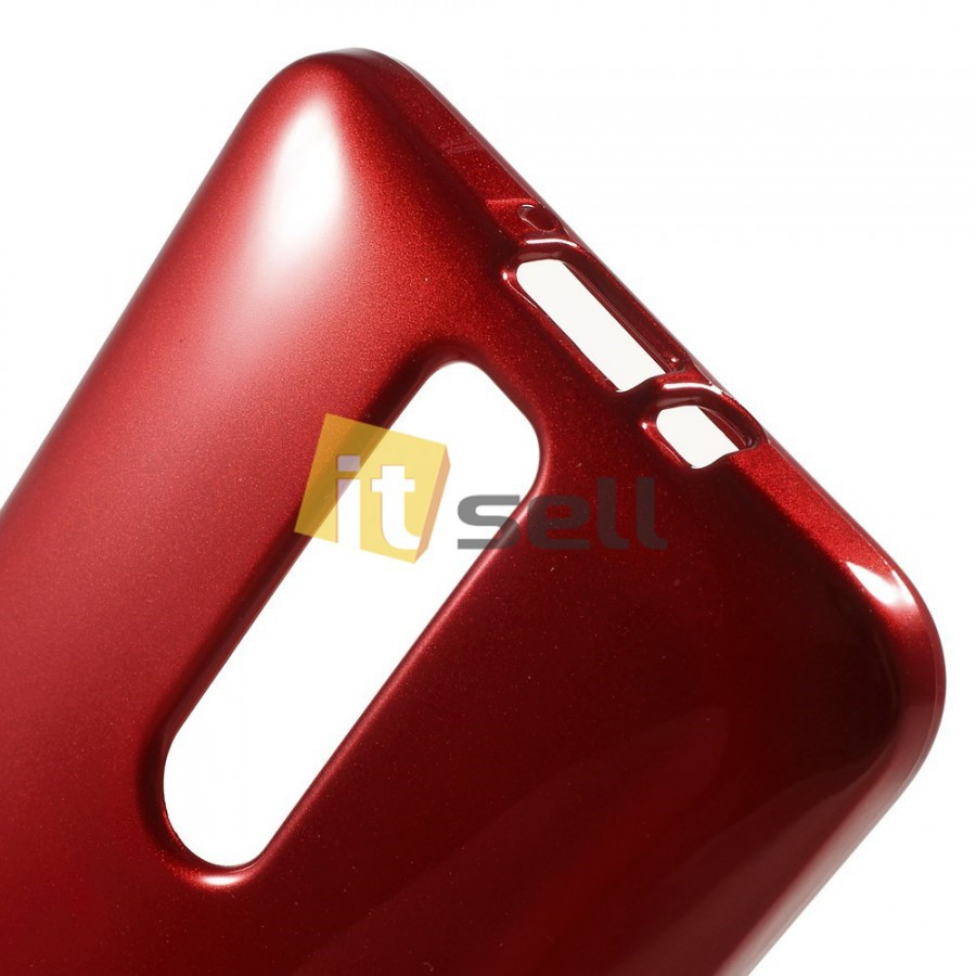 TPU чехол Mercury Jelly Color series для Asus Zenfone 2 (ZE551ML/ZE550ML) Красный на itsell.ua