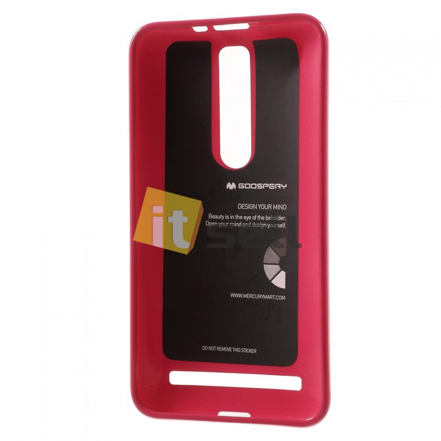 Фото TPU чехол Mercury Jelly Color series для Asus Zenfone 2 (ZE551ML/ZE550ML) Малиновый в магазине itsell.ua